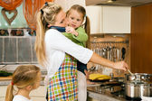Mother with children having a — Stock Photo