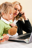 Family Business - telecommuter — Stock Photo