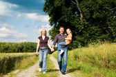 Happy family (mother, father — Foto Stock