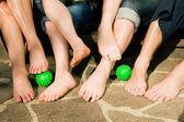 Healthy feet series: feet of men — Stock Photo