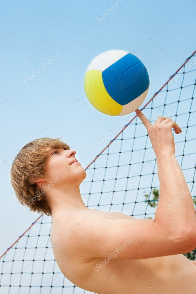 Beach volleyball   Stock Photo #5025079