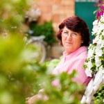 Gardening - woman harvesting — Stock Photo #5050423