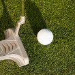 Stock Photo: Golf player attempting the tee
