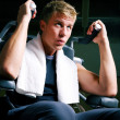 Man working out in the Gym on — Stock Photo #5050664