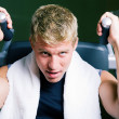 Man working out in the Gym on — Stock Photo #5050665
