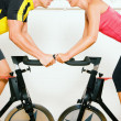 Very competitive couple — Stock Photo