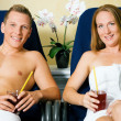 Couple male and female relaxing — Stock Photo
