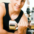 Stock Photo: Man having a workout with