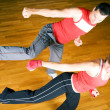 Stock Photo: Martial Arts Sparring