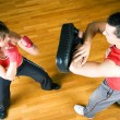 Boxing couple - Stock Photo