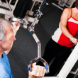 Senior in a gym — Stock Photo #5051263