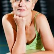 Royalty-Free Stock Photo: Senior woman in a gym