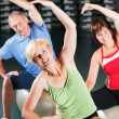 Senior woman in a gym — Stock Photo