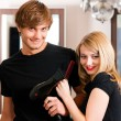 Two hairdresser - man and - Foto de Stock  