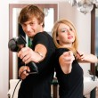 Two hairdresser - man and — Stock Photo #5051557