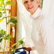 Woman watering the plants — Stock Photo #5051631