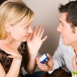 Couple - he is proposing — Stock Photo