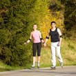 Royalty-Free Stock Photo: Athletic young couple jogging