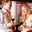 Man and woman in a hotel bar — Stock Photo #5051892