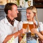 Couple in Bavarian Tracht — Stock Photo