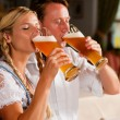 Couple in Bavarian Tracht — Stockfoto