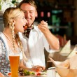 Couple in Bavarian Tracht — Stock Photo