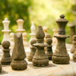 Chess game made of stone - Stock Photo