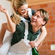 Young couple moving in new — Stock Photo #5052009