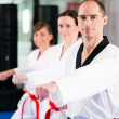 In a gym in martial arts — Stock Photo #5052115