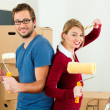 Royalty-Free Stock Photo: Young couple moving in new