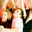 Dancing and having fun - Stock Photo