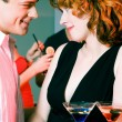 Couple flirting — Stock Photo