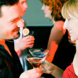 Couple flirting very obviously in — Stock Photo