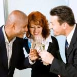 Businesspeople celebrating — Stock Photo