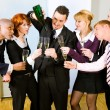 Stock Photo: Businesspeople celebrating