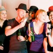 Having a karaoke party — Stock Photo #5052226