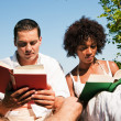 Couple reading books in the — Stock Photo