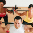 Stock Photo: Group of five exercising