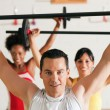 Group of five exercising — Stock Photo
