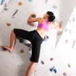 Woman exercising at a climbing — Stock Photo #5052611