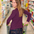 Woman in the supermarket — Stock Photo