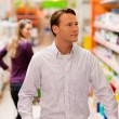 Stock Photo: Man in the supermarket