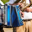 Bavarian traditional band with - Stock Photo
