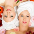Two girls relaxing in a wellness — Stock Photo #5056887