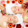 Two girls relaxing in a wellness — Stock Photo #5056890
