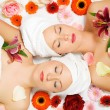 Stock Photo: Two girls relaxing in wellness