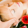 Woman enjoying a massage in a — Stock Photo #5056943