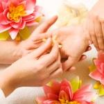 Woman getting a hand massage — Stock Photo #5056961