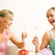 Two friends (female) enjoying — Stock Photo #5056965