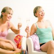 Two friends (female) enjoying — Stock Photo